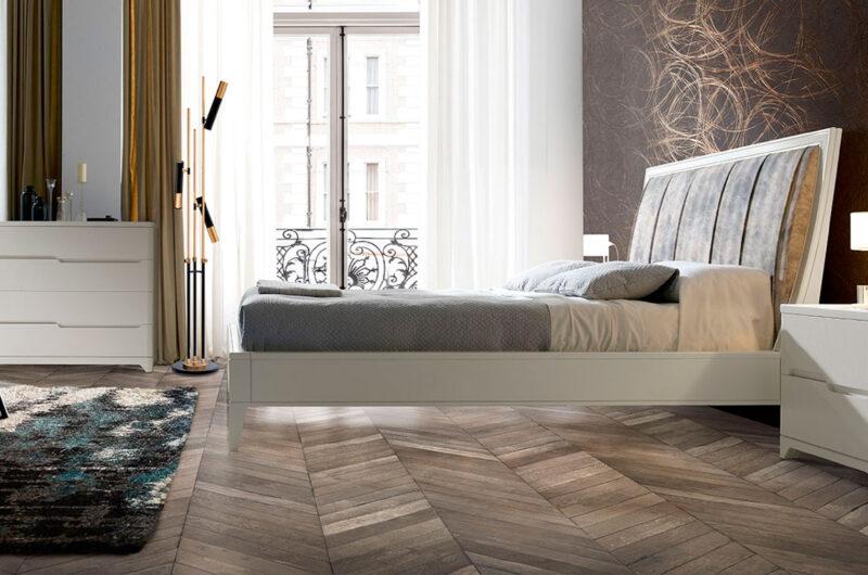 Dormitorio-Valentina-Cabezal-Tapizado-gris-Blanco