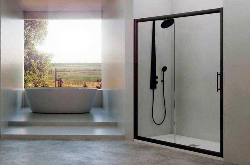 mampara-de-ducha-hidroglass-esla-negra