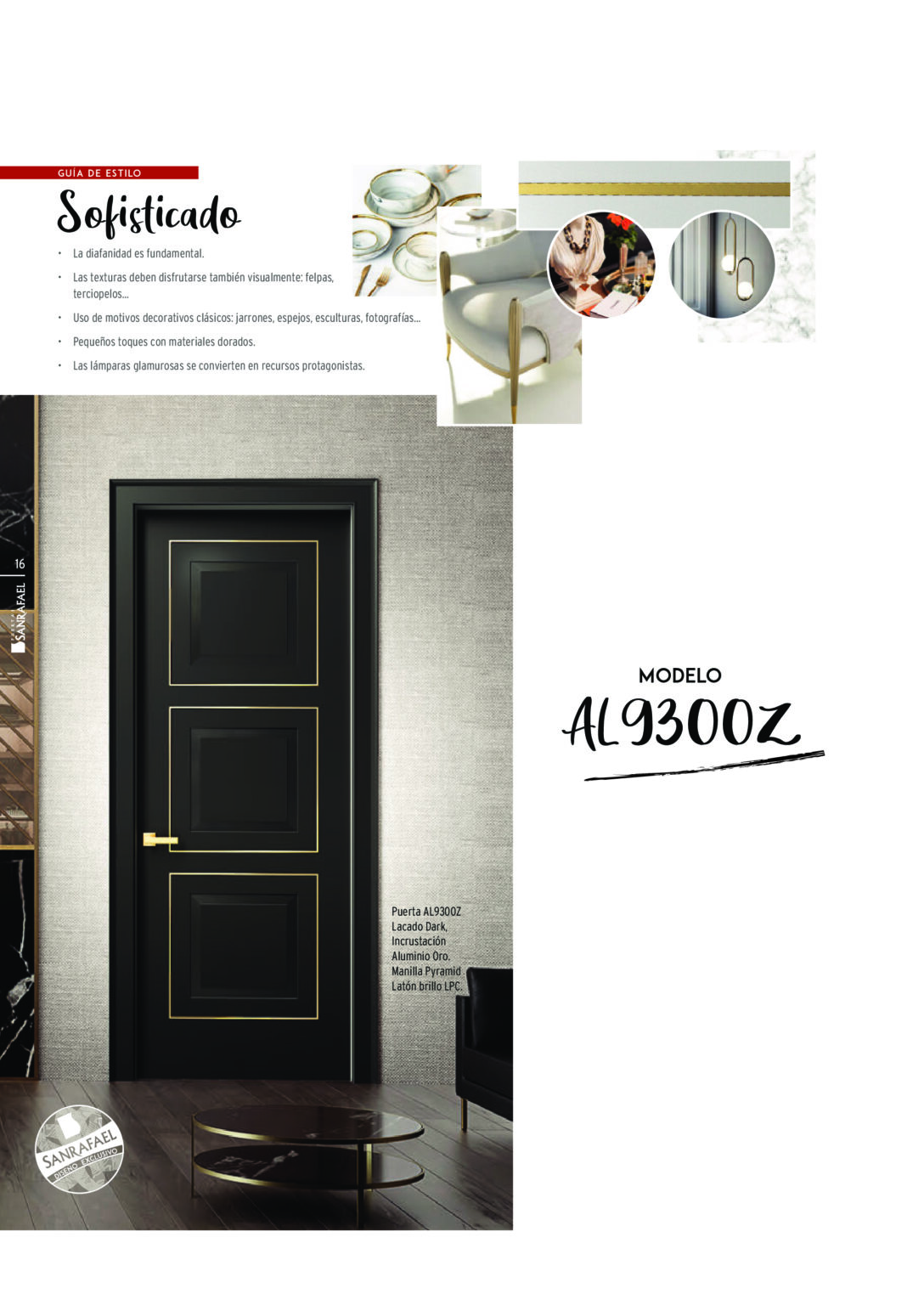Puerta-AL9300Z-Lacado-Dark_Incrustación-Aluminio-Oro-Manilla-Pyramid-Laton-Brillo-LPC