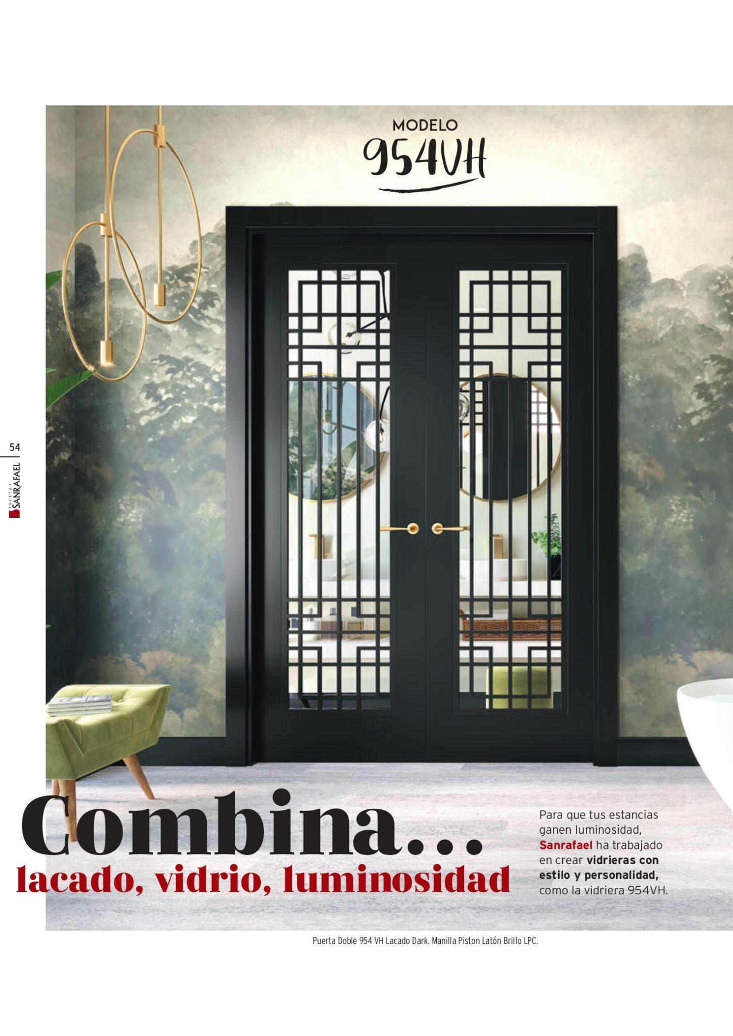 Puerta Doble 954 VH Lacado Dark. Manilla Piston Latón Brillo LPC_page-0001